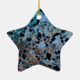 Blue Granite Ornaments