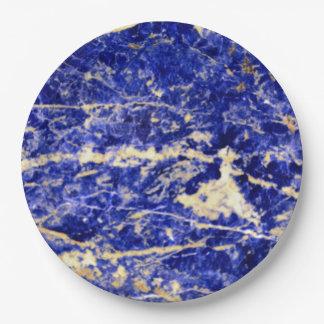 Blue Granite Paper Plate