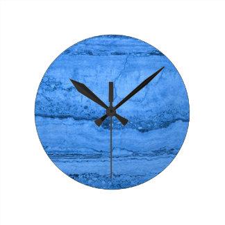 Blue granite round clock