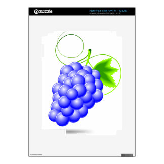 blue grape illustration for a vegetables or casino iPad 3 decal