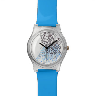 Blue graph IC type character kind watch