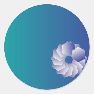 Blue graphi classic round sticker