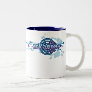 Blue Graphic Circle Arkansas Mug