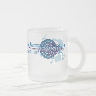 Blue Graphic Circle Hawaii Mug Glass