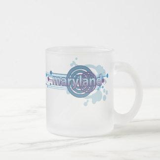Blue Graphic Circle Maryland Mug Glass