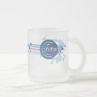 Blue Graphic Circle Utah Mug Glass