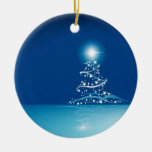 Blue graphics for Christmas - Adorno Redondo De Cerámica