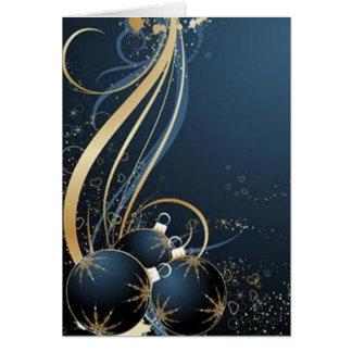Blue graphics for Christmas - Felicitacion