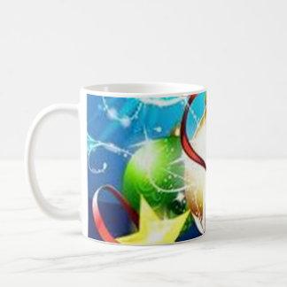 Blue graphics for Christmas - Tazas De Café