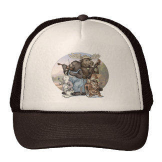 Blue Grass Critters by Mudge Studios Trucker Hats