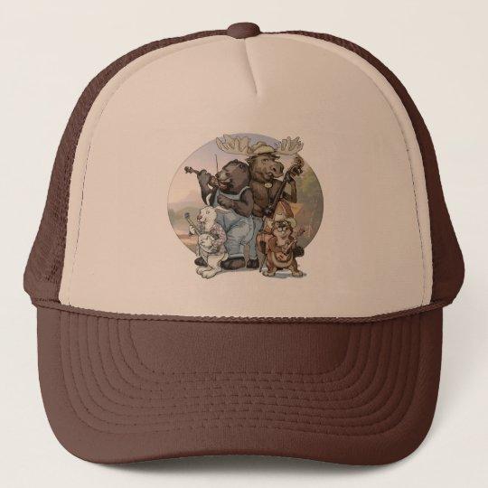 Blue Grass Critters by Mudge Studios Trucker Hat