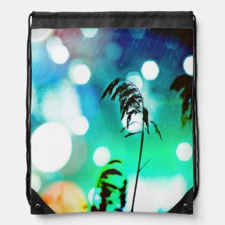 Blue Grass Drama Sparkle Drawstring Backpack