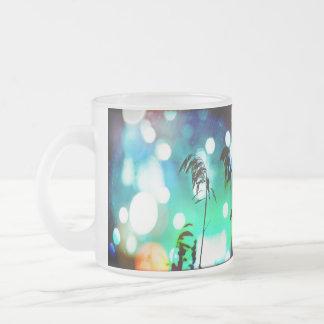 Blue Grass Drama Sparkle Frosted Mug