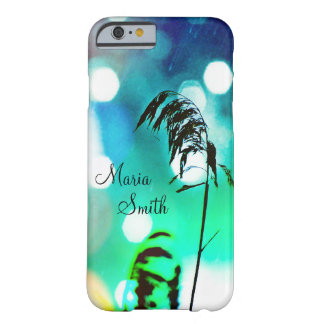 Blue Grass Drama Sparkle iPhone6Case-Personalize Barely There iPhone 6 Case
