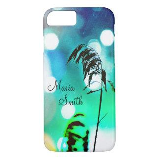 Blue Grass Drama Sparkle iPhone 7 Case-Personalize iPhone 7 Case