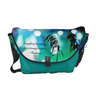 Blue Grass Drama Sparkle Messenger Bag