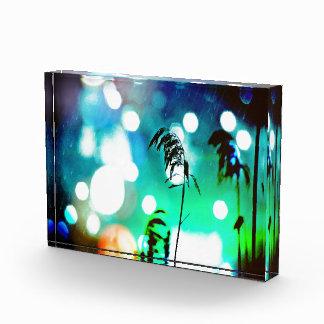 Blue Grass Drama Sparkle Photo In Acrylic Acrylic Award