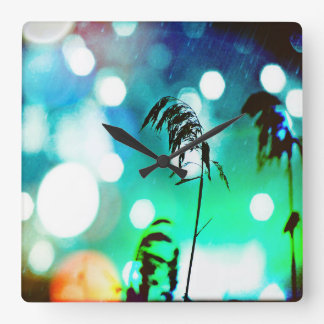 Blue Grass Drama Sparkle Wall Clock