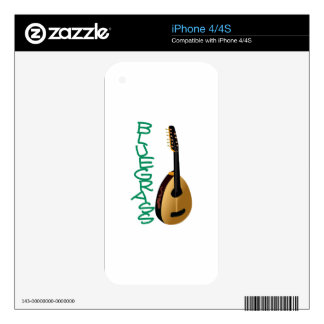 Blue Grass iPhone 4 Decals