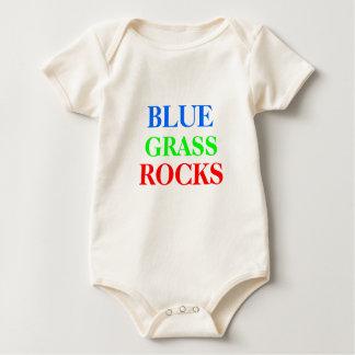 BLUE, GRASS, ROCKS BABY BODYSUITS