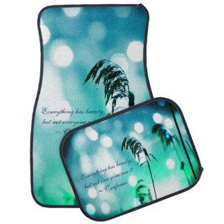 Blue Grass Tropical Sparkle Car Mats Floor Mat