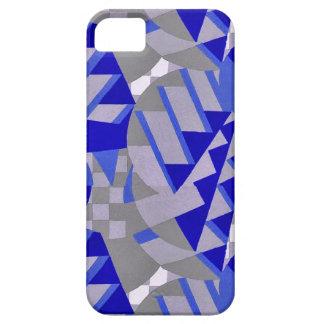 Blue / gray 1920s Art Deco design tie iPhone SE/5/5s Case