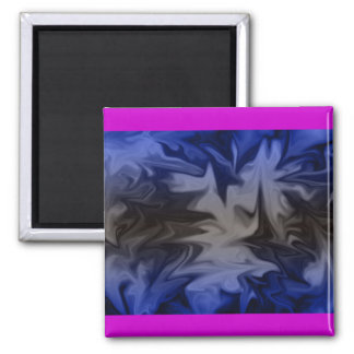 Blue Gray Abstract Magnet