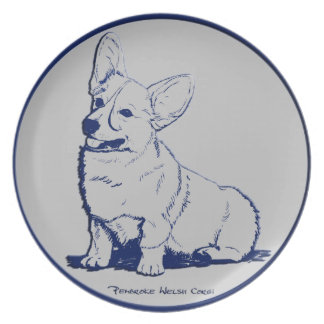 Blue & Gray - Adolescence with Big Ears Dinner Plate