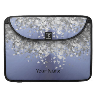 Blue gray and faux glitter sleeves for MacBook pro