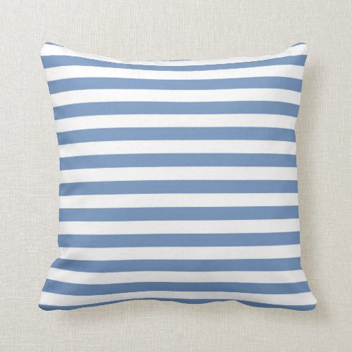 blue gray and white stripes throw pillow zazzle. Black Bedroom Furniture Sets. Home Design Ideas