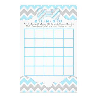 Blue gray Bingo and purse boy baby shower games Flyer