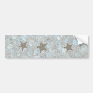 Blue Gray Bubbles & Silver Stars Bumper Stickers