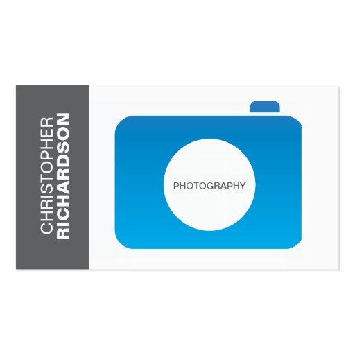 BLUE GRAY CAMERA LOGO Business Card Pack Standard