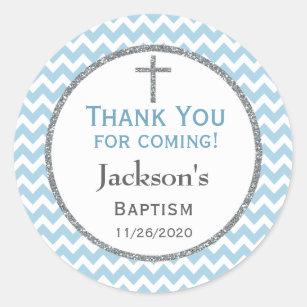 Baptism Favor Stickers Sticker Designs Zazzle