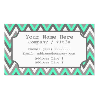 Blue Gray Chevron Label Business Card