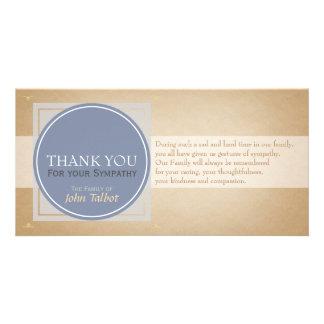 Blue Gray Circle Square Tags Sympathy Thank you P Card