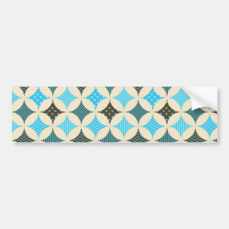 Blue Gray Diamond Circle Pattern Design Bumper Sticker