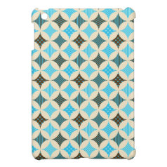 Blue Gray Diamond Circle Pattern Design iPad Mini Case