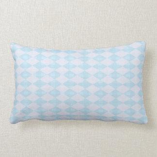 Blue Gray Diamond Lumbar Pillow