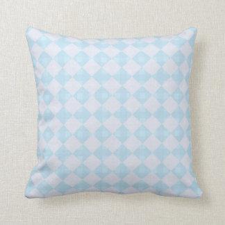 Blue Gray Diamond Throw Pillow