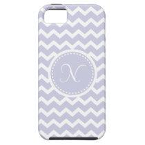 blue gray elegant chevron monogram iPhone SE/5/5s case