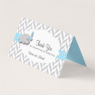 Candy business cards templates zazzle blue gray elephant baby shower candy toppers business card colourmoves