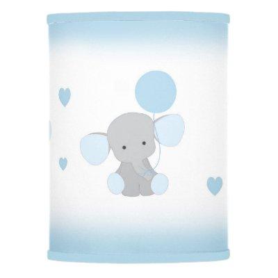 Blue Gray Elephant Nursery Baby Boy Safari Animal Tripod Lamp Zazzle