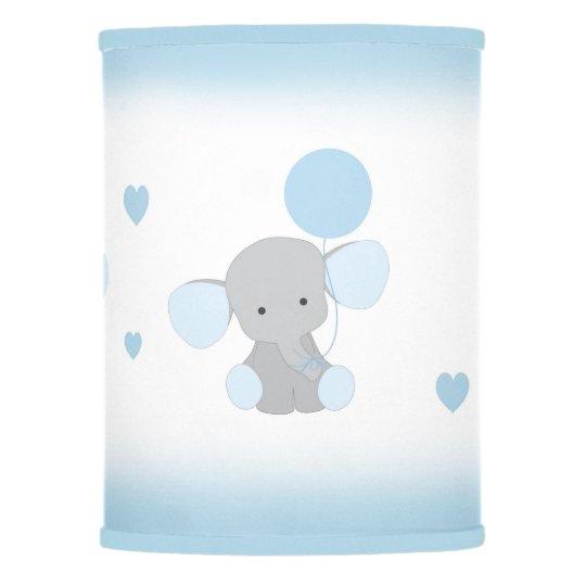 Blue Gray Elephant Nursery Baby Boy