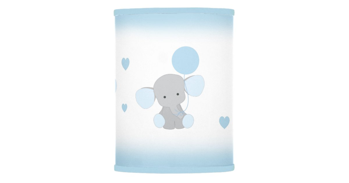 Blue Gray Elephant Nursery Baby Boy