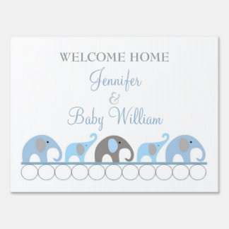 Welcome home baby signs pictures.