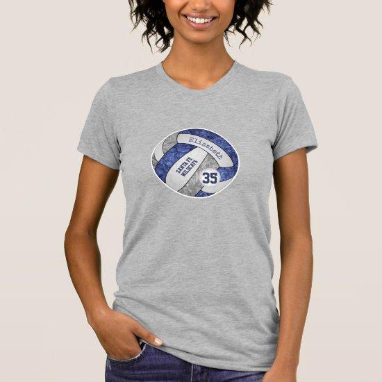 blue gray girl's volleyball team spirit T-Shirt