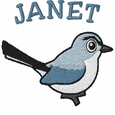 Blue-gray Gnatcatcher Embroidery Hoodie