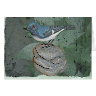 Blue-Gray Gnatcatcher Woodcarving Note Card