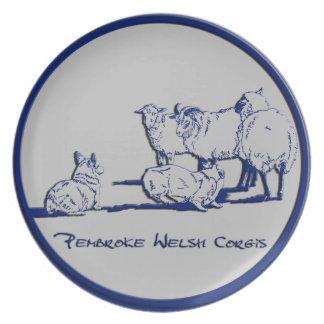 Blue & Gray - Herding Sheep Dinner Plate